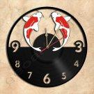 Goldfish Wall Clock Vinyl Record Clock home decoration
