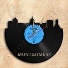 Montgomery Skyline Wall Clock Vinyl Record Clock Upcycled Gift Idea