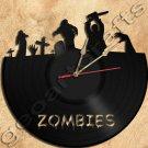 Zombie Vinyl Record Clock Upcycled Gift Idea