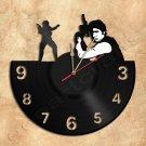 Han Solo Vinyl Record Clock Upcycled Gift Idea