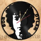 Wall Clock Bob Dylan Vinyl Record Clock Upcycled Gift Idea