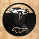 Mustang Vinyl Record Clock home decoration housewares Upcycled Gift Idea