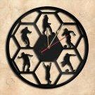 Wall Clock Soccer Vinyl Record Clock Upcycled Gift Idea