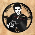 Wall Clock Elvis The King Vinyl Record Clock Upcycled