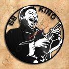 BB King Vinyl Record Clock Upcycled Gift Idea
