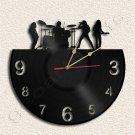 Rock Metal Band Vinyl Record Clock Upcycled Gift Idea