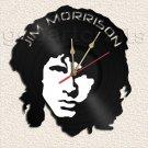 Wall Clock Jim Morrison Vinyl Record Clock Upcycled Gift Idea