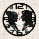 Princess Leia Han Solo Star Wars Wall Clock Vinyl Record Clock Upcycled Gift Ide
