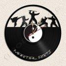 Wall Clock Martial Arts Vinyl Record Clock Upcycled Gift Idea