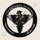 30 Seconds to Mars Wall Clock Vinyl Record Clock home decoration