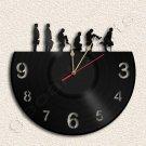 Wall Clock Silly Walk Vinyl Record Clock Upcycled Gift Idea