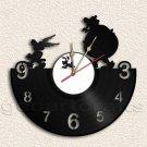 Wall Clock Comic Characters Vinyl Record Clock Upcycled Gift Idea
