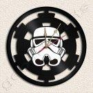 Star Wars Stormtrooper Star Vinyl Record Clock Upcycled Gift Idea