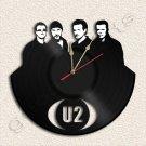 U2 Wall Clock Vinyl Record Clock Upcycled Gift Idea