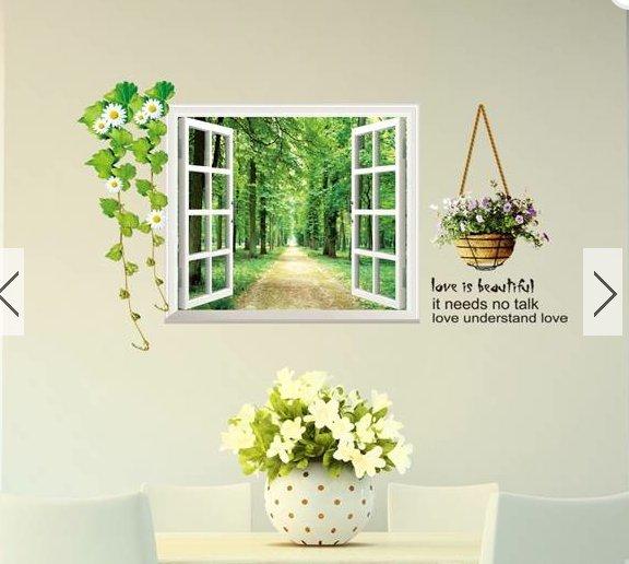 window flower wall home sticker