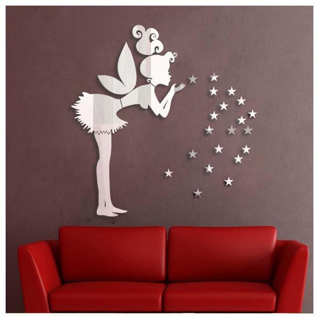 fairy girl children home wall sticker