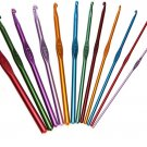 12PCS ALUMINUM PLASTIC CROCHET HOOK SET