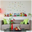 children room zoo animal train wall sticker