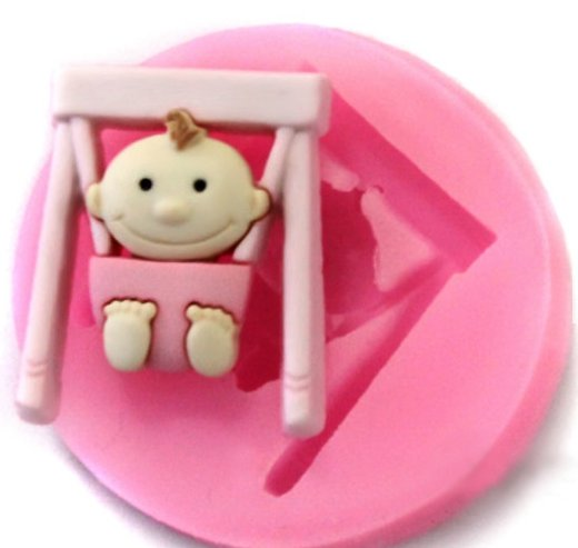 swing baby cake soap silicone mold