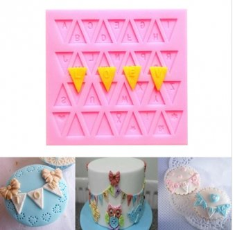 3D flag 26 english letters silicone mould