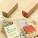 1 box (25 pcs) wooden stamp set