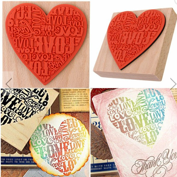 1 piece rubber wooden stamp