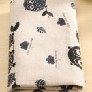 1 piece owl Cotton Linen Cloth