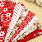 7 Pieces patterned Fabric Squares 96
