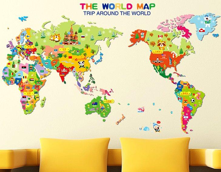 map children home wall sticker