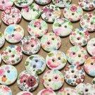 100pcs 2 holes wooden buttons