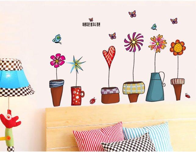 flower children home wall sticker