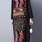 long sleeved vintage pattern dress