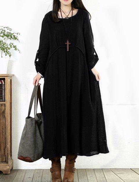 long sleeved loose elegant dress
