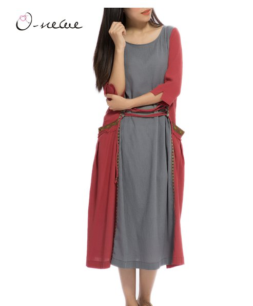 half sleeve women vintage dress