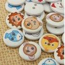 100pcs wooden buttons