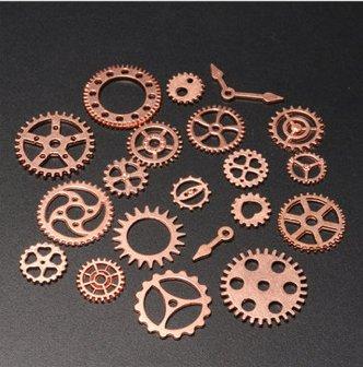 20pcs diy jewelry clock pendant charms gears