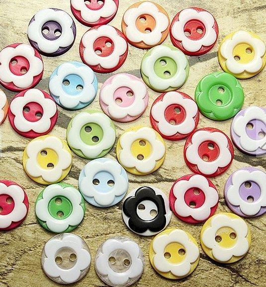 60pcs resin buttons