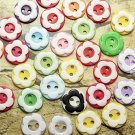60pcs resin buttons