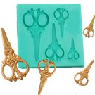 fashion women shape cookie cake SCISSORS silicone mold