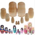 5 set paint doll wooden blank