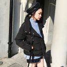 women soft warm short coat black