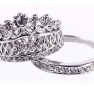 women fashion silver plated 2pcs rings