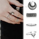 4pc silver plated ring