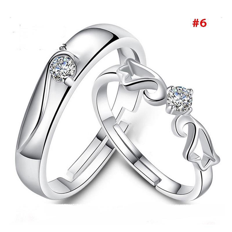 women and men fashion wedding rings