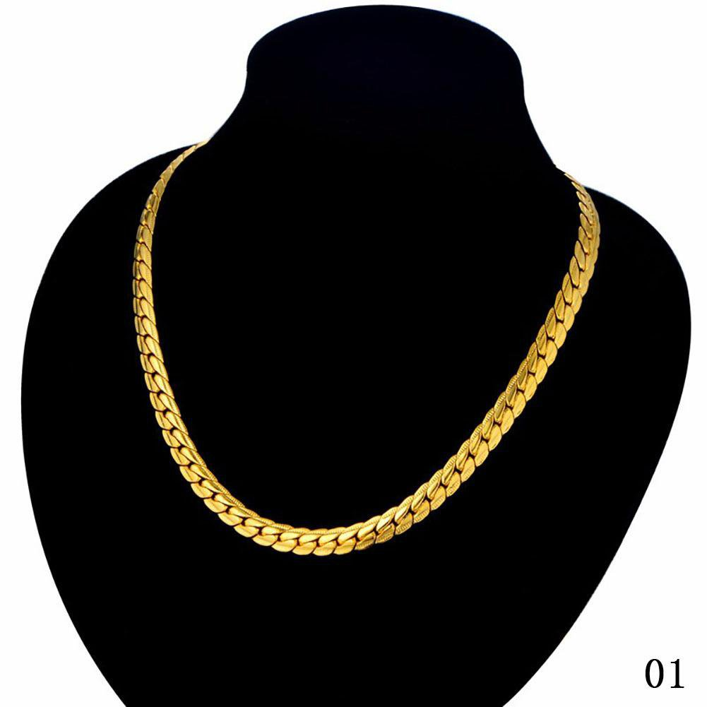 20inch men gold/silver necklace
