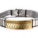 MEN stainless steel gold plated bracelet