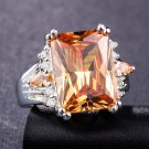 women big crystal zircon ring