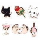 6pcs cute brooch jewelry children pins