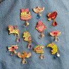 11pcs cute kids brooch jewelry pin