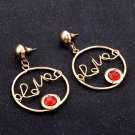 Women love letter earring  red